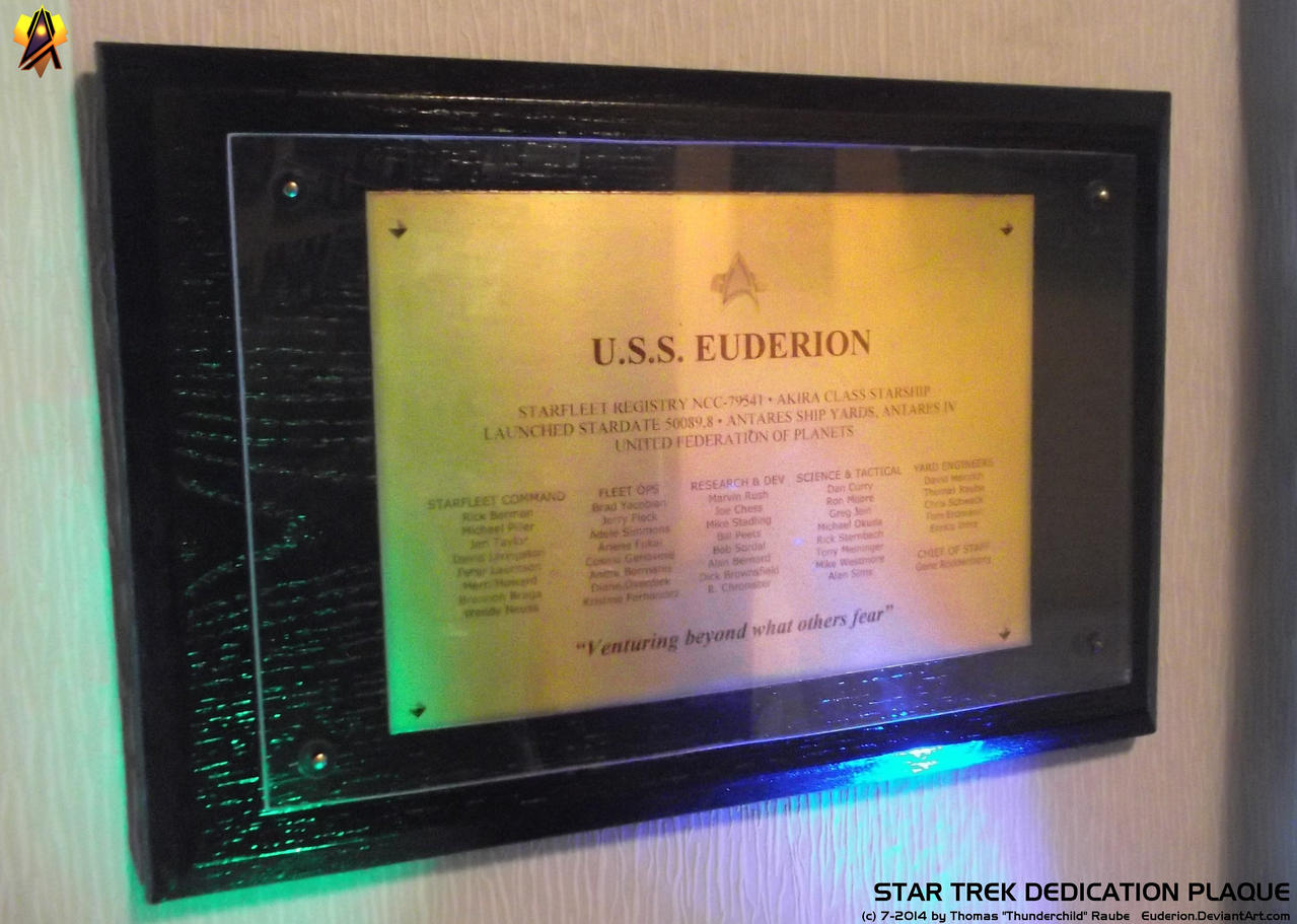 Star Trek Dedication Plaque Prop by Euderion