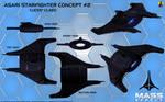 Asari Starfighter Concept 2 (Lucen class)