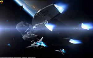 Battlestars Bomber Fleet by Euderion