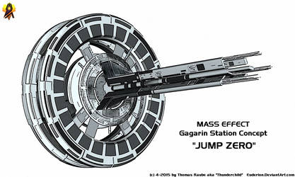 Mass Effect Gagarin Station Concept by Euderion