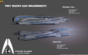 Systems Alliance Dreadnoughts by Euderion