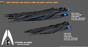 Alliance First Contact Era Starships by Euderion