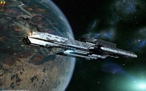 Tau'ri Battlecruiser by Euderion
