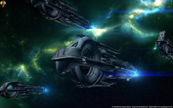 Quarian Cruisers (Pre Flotilla Era) by Euderion