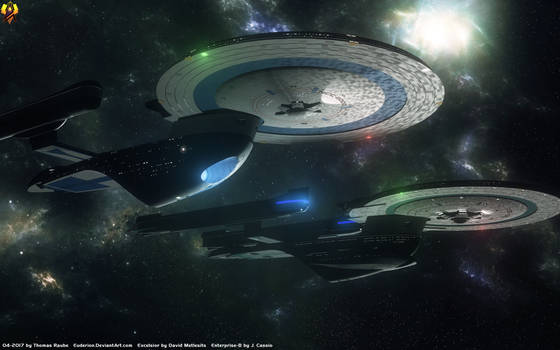 Excelsior and Enterprise-B
