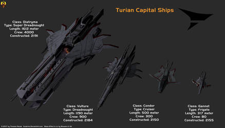 Turian Hierarchy Capital Ships by Euderion
