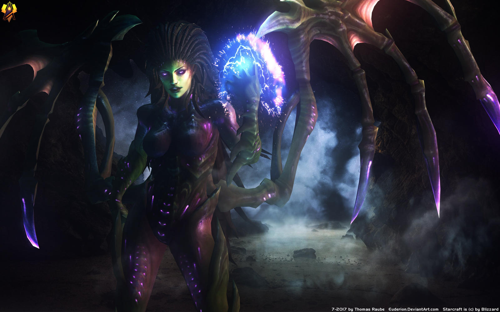 Wallpapers StarCraft Monsters Queen of Blades, Sarah