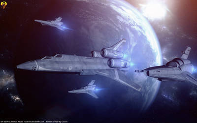 Escorting the Bomber by Euderion