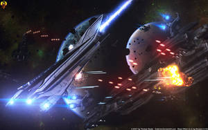 Dreadnought Battle - Denali vs Batarians by Euderion