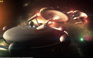 Leaving Starfleet Headquarter by Euderion