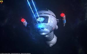 Romulan War Era Cruiser UES Krechet by Euderion