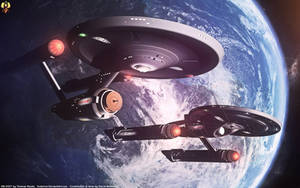 Enterprise and Ares by Euderion