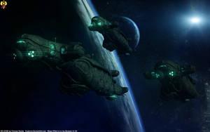 Kett Dreadnought - Regarikas class by Euderion