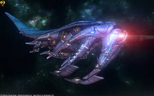 Mass Effect - Sovereign class Reaper by Euderion