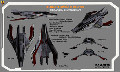 Turian Shuttle Overview Card by Euderion