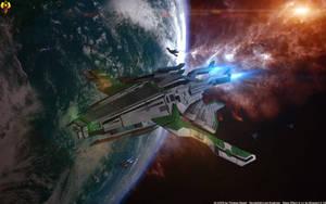 Volus Cruiser by Euderion