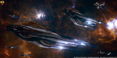 Cerberus Science Ships - Geneva class by Euderion