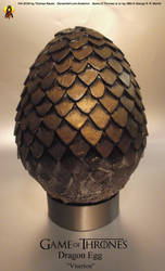 Game of Thrones Dragon Egg Prop Viserion by Euderion