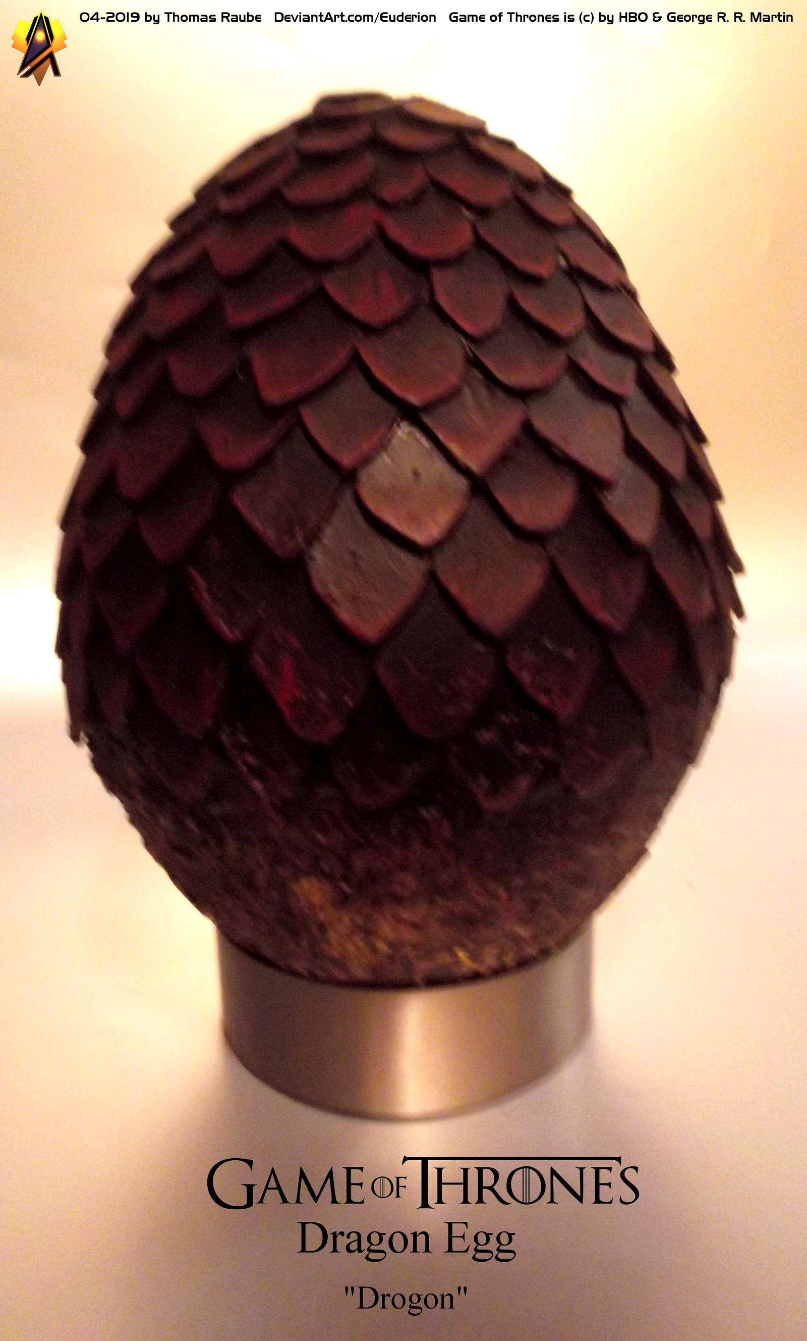 Game of Thrones Dragon Egg Prop Drogon by Euderion on DeviantArt