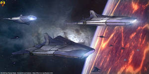 Asari Destroyers on the prowl