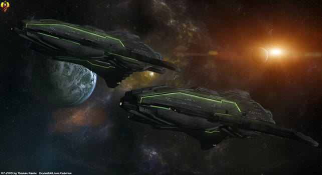 Prothean Empire Cruisers by Euderion