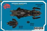 Mass Effect - Krogan Ships Top View by Euderion