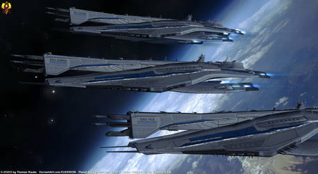 Systems Alliance Everest class Dreadnoughts by Euderion