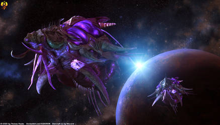 Starcraft - Leviathans by Euderion