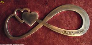 Infinity Wedding Logo from wood