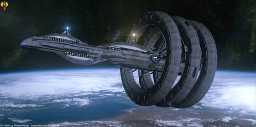 Aldrin class Cruiser - Mass Effect Fanart