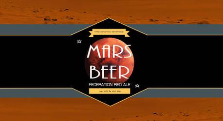 Mars Beer Label