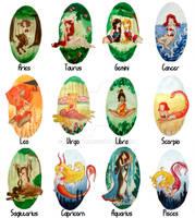 Zodiacs full set