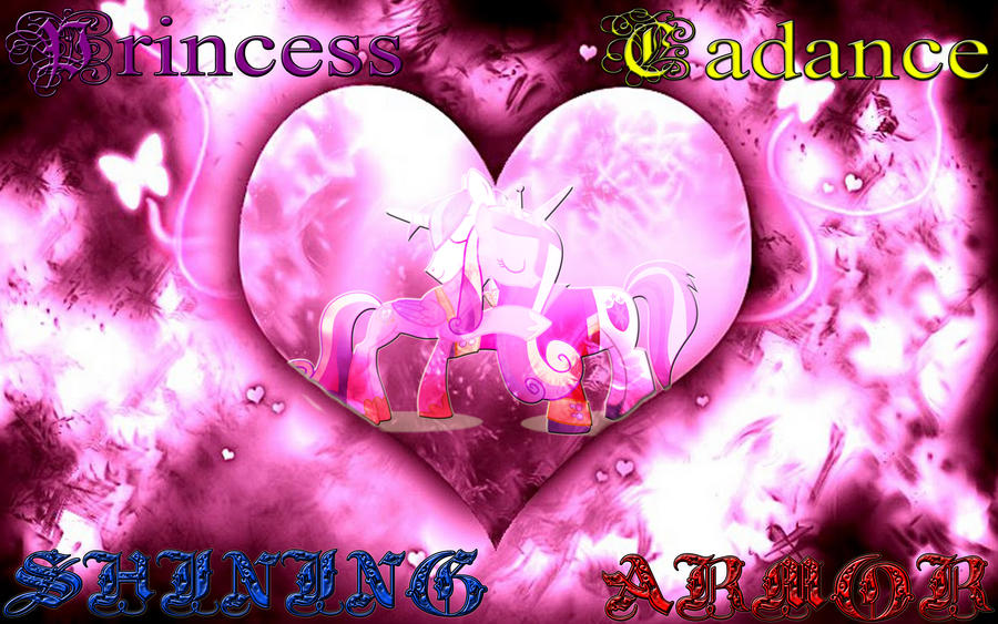 Princess Cadance And Shining Armor Wallpaper by Macgrubor