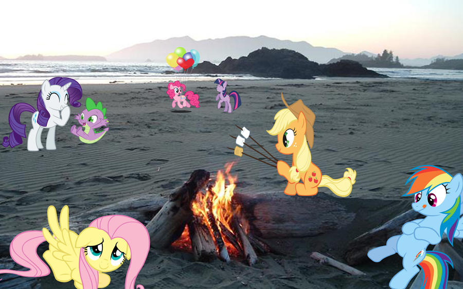 Mane 6 At The Beach by Macgrubor