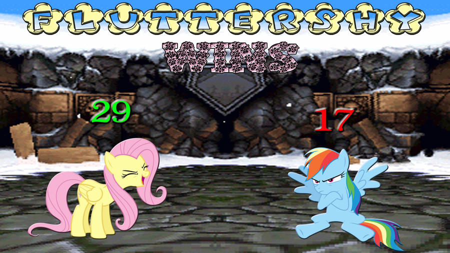 Pony Kombat Tournament Round 2, Battle 1 (Result) by Macgrubor