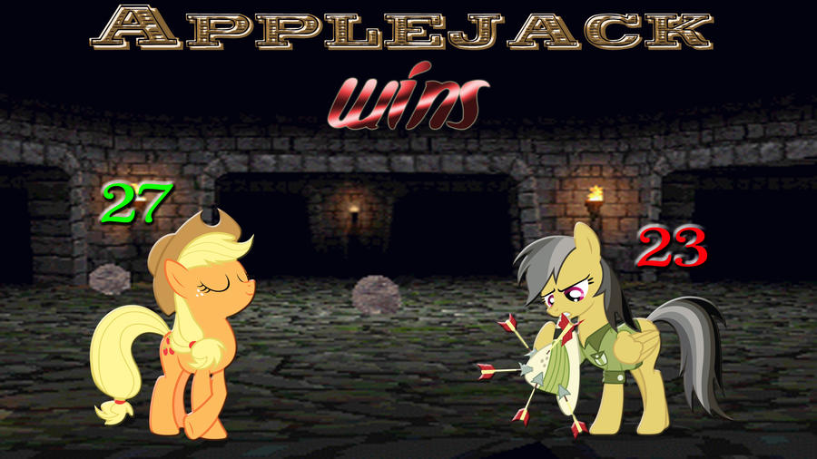 Pony Kombat Tournament Round 2, Battle 2 (Result) by Macgrubor