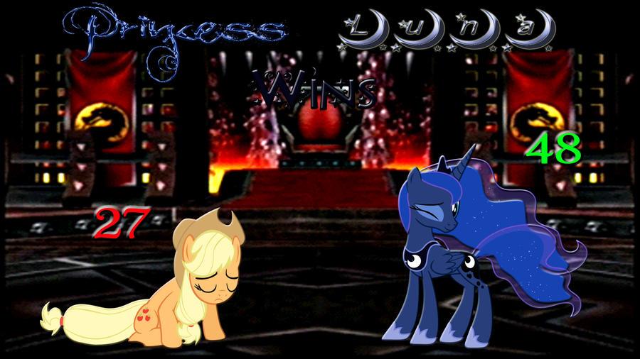 Pony Kombat Tournament Round 3, Battle 3 (Result) by Macgrubor