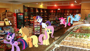 Mane 6 At The Candy Store
