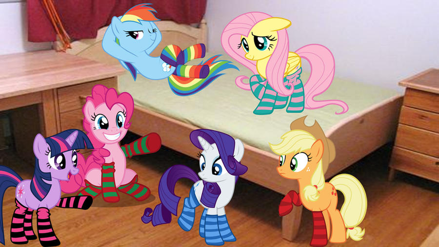 Mane 6 In Their Socks by Macgrubor