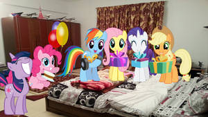 Request: Mane 6 Surprise A Special Someone by Mr-Kennedy92
