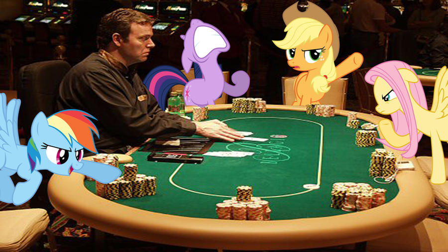 RD, TS, AJ, And FS Play Poker by Macgrubor