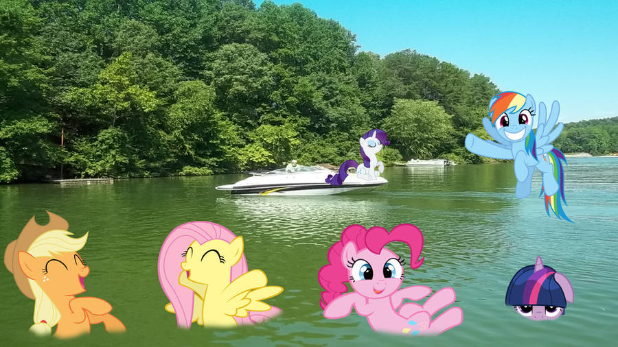 Request: Fun At The Lake by Macgrubor