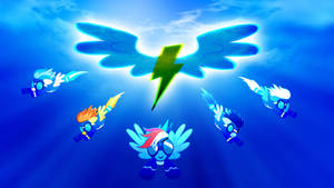 The Wonderbolts With Rainbow Dash