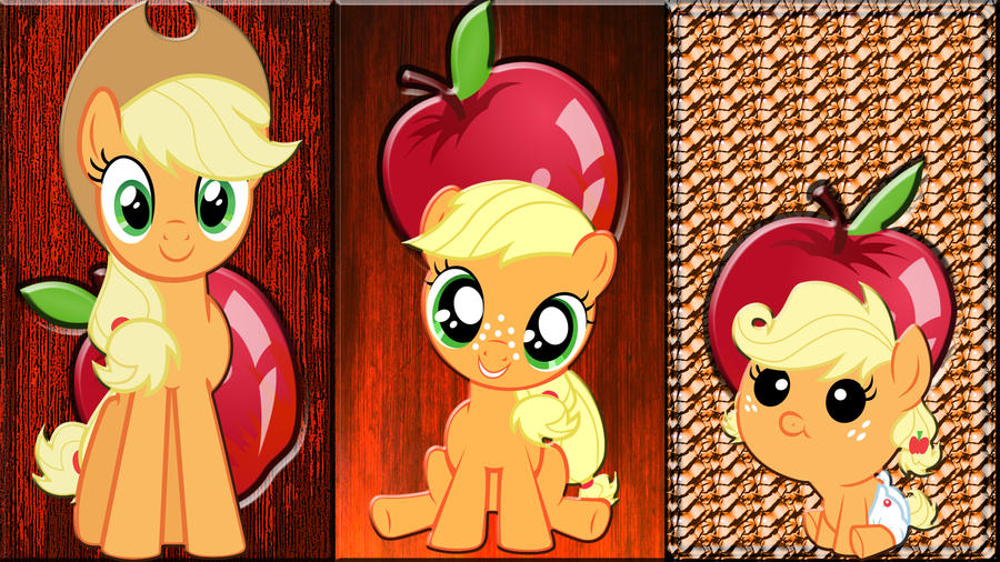 3 Applejacks by Macgrubor