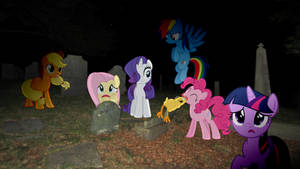 Mane 6 In A Graveyard by Mr-Kennedy92