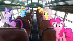 Mane 6 On A Bus by Mr-Kennedy92