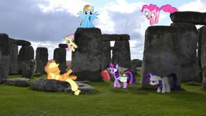 Mane 6 At Stonehenge