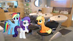 Rarity And Friends At The Salon