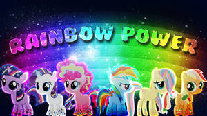Mane 6 Rainbow Power Filly Version