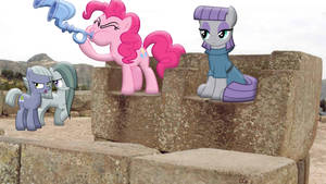 Pie Sisters On A Fortress Of Stone
